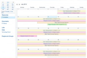 SharePoint Calendar with colours